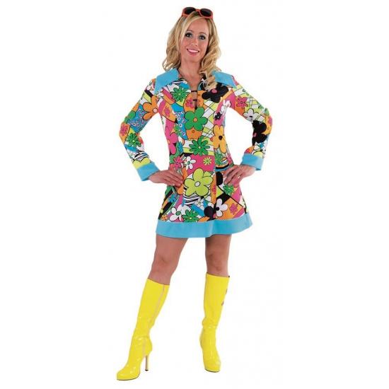 Carnaval Hippie jurk bloemen | Fun en Feest Megastore Alkmaar