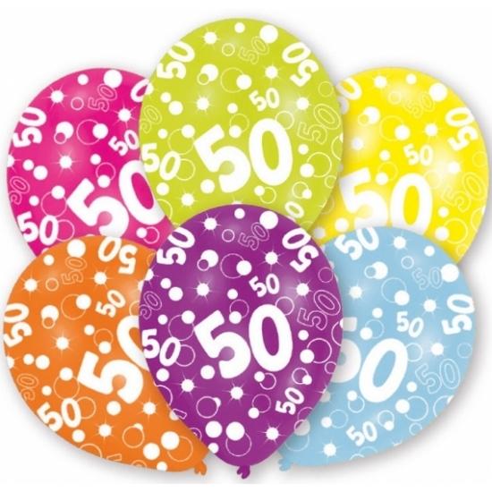 Versiering Verjaardag 50 Jaar.Verjaardag Versiering Leeftijd Ballonnen 50 Jaar 6 Stuks