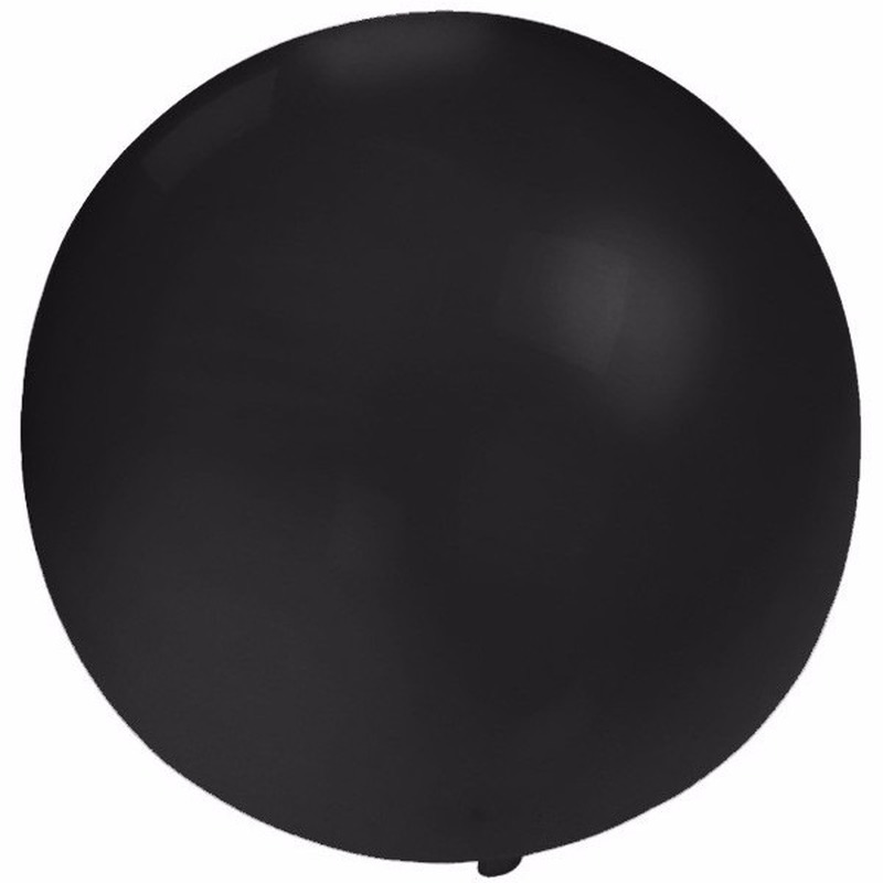 Ronde Ballon Zwart 60 Cm Voor Helium Of Lucht Fun En Feest