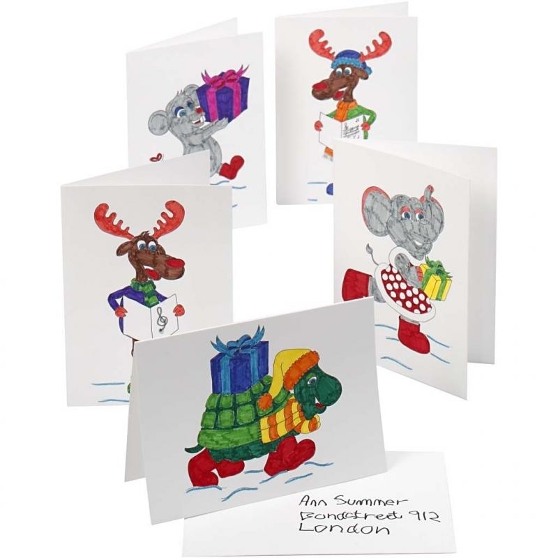 Zelf Kerstkaarten Inkleuren Pakket Fun En Feest Megastore Alkmaar