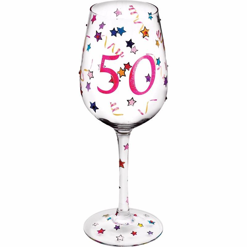 Vaak Abraham of Sarah wijnglas kado voor 50 jarige | Fun en Feest #WN83