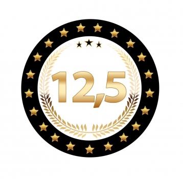 12,5 jaar jubileum versiering pakket   fun en feest megastore alkmaar