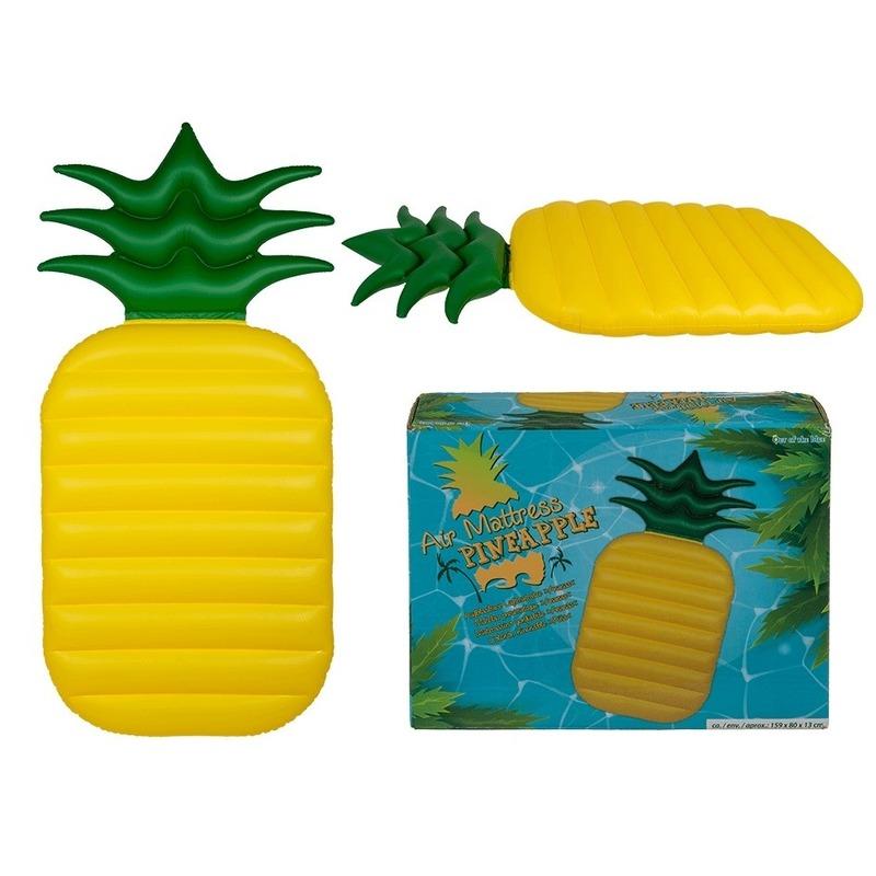 Kinderluchtbed Met Rand.Opblaasbaar Luchtbed Ananas 165 Cm Fun En Feest Megastore Alkmaar