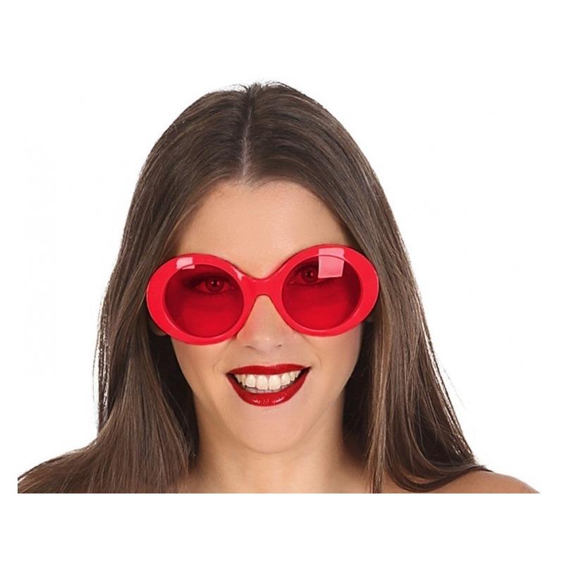 09dbe443442938 Rode ronde verkleed zonnebril