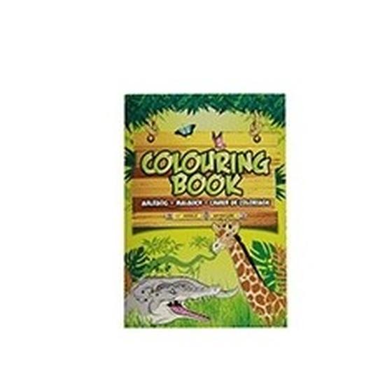 Kleurplaten Dieren A4.Jungle Dieren A4 Kleurboeken Wildlife 24 Paginas Met